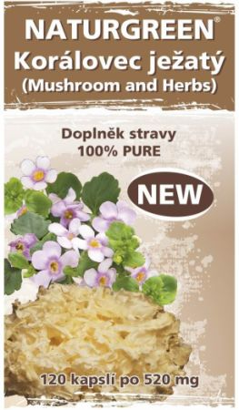 Naturgreen®Korálovec ježatý (Mushroom and Herbs)